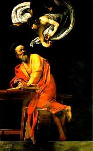 Caravaggio in Rome, The Inspiration of Saint Matthew