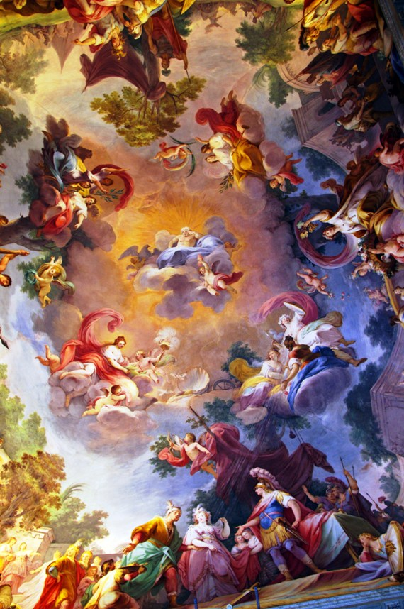 ceiling detail at Caserta Palace