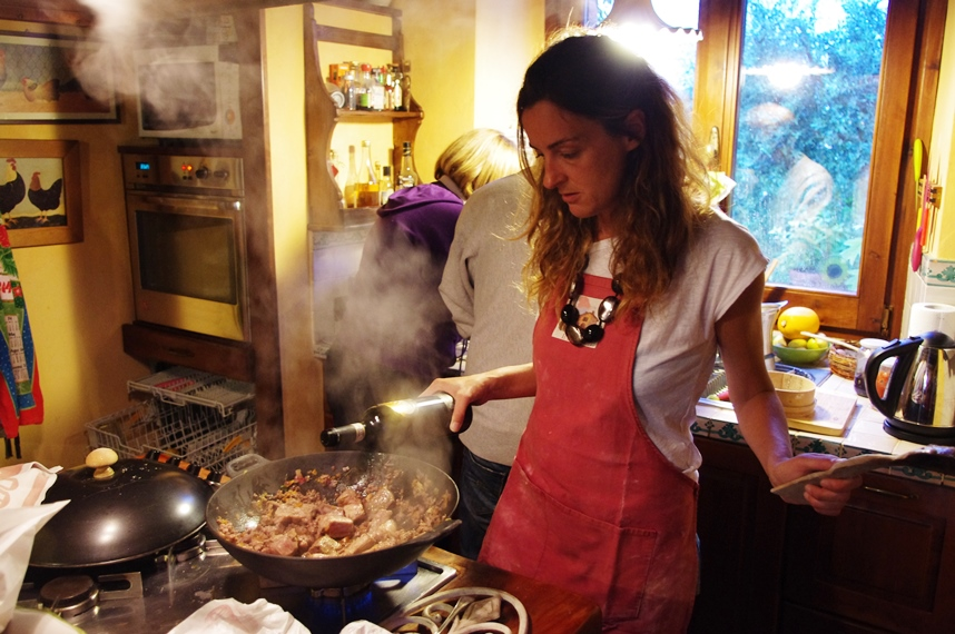 cooking school at organic farm in umbria