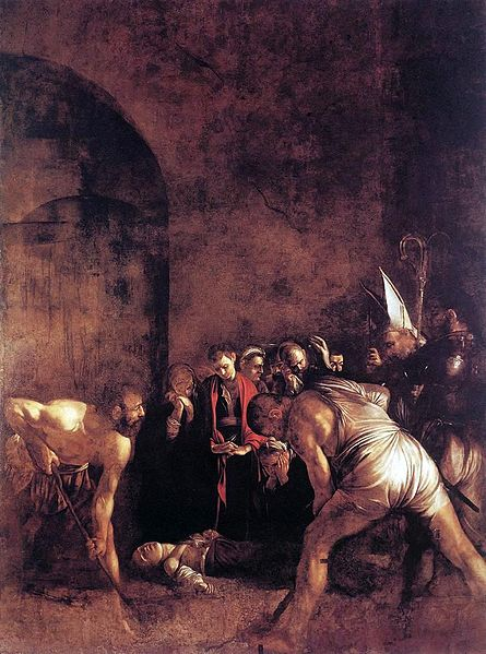 caravaggio in sicily, burial of saint lucy