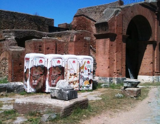 These relics were recently uncovered at Ostia and fully restored to their original beauty. The ancient Romans were geniuses at bathroom solutions.