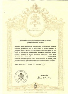 Testimonium from Via Francigena pilgrimage trail to Rome